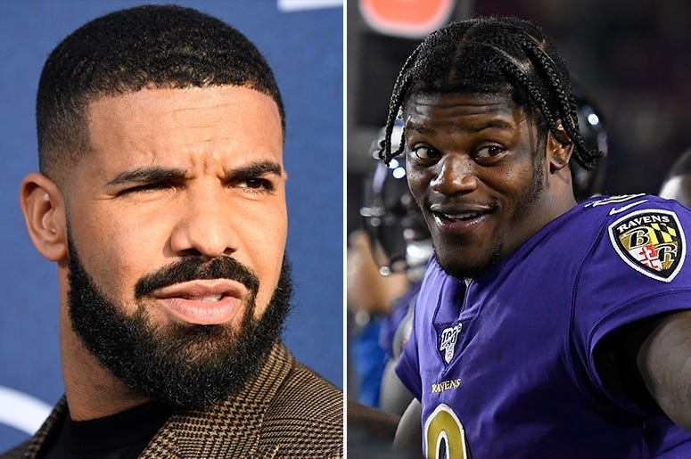 Baltimore Ravens fans blame Drake for playoffs loss.