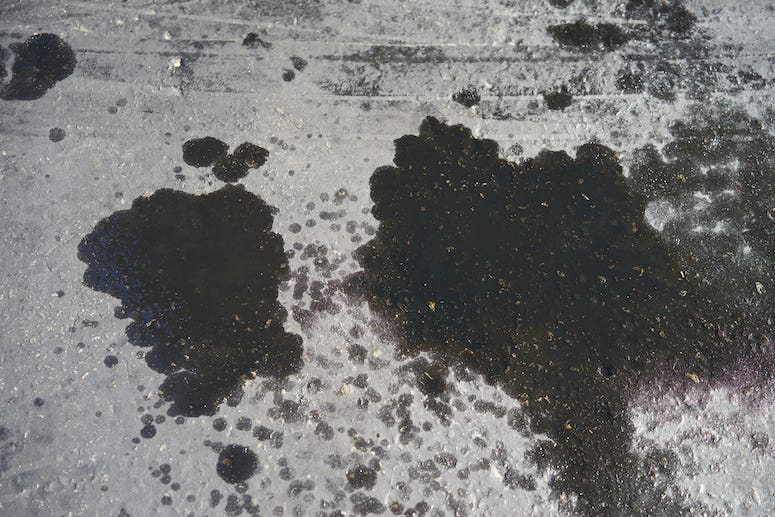 Oil, Spill, Stain, Parking Lot, Car
