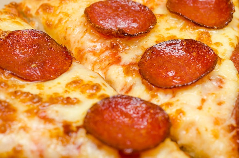 Pepperoni Pizza, Food, Close Up, Slice