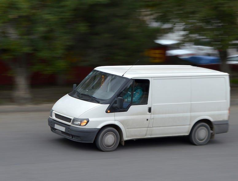 White Van, Road, Driving