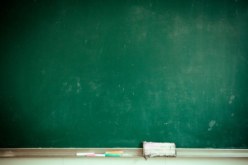 Classroom chalk board.