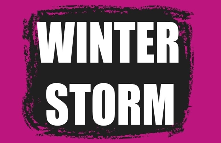 Winter storm banner