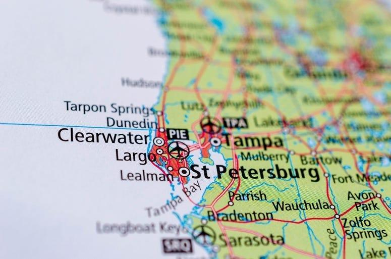 St. Petersburg, Florida on map