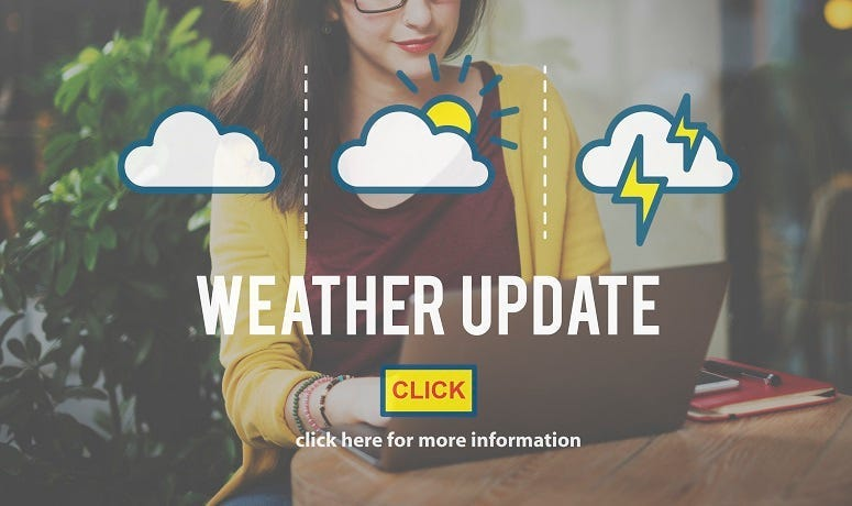 Weather Update Information Prediction Climate Daily Concept.