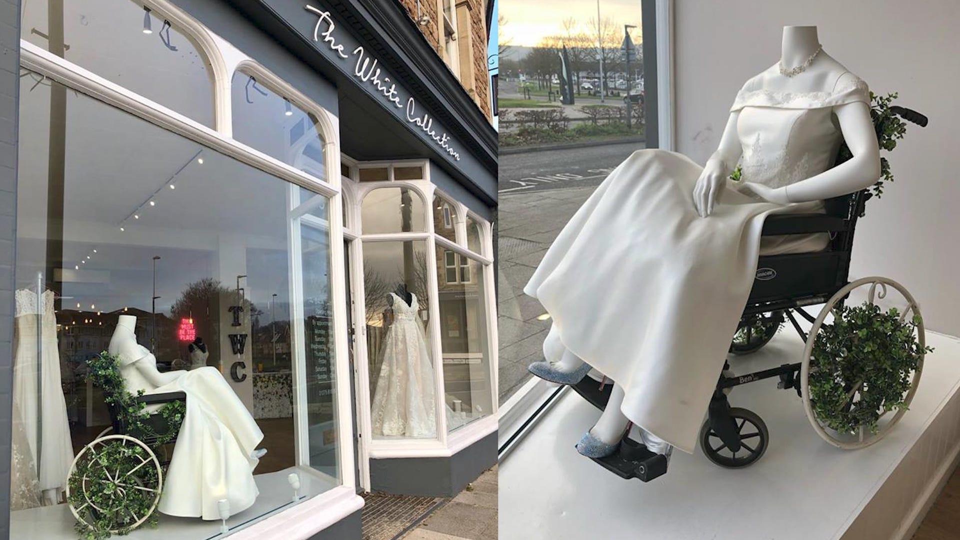 58f732c2d5 Wedding Boutique Praised for Putting Mannequin in Wheelchair