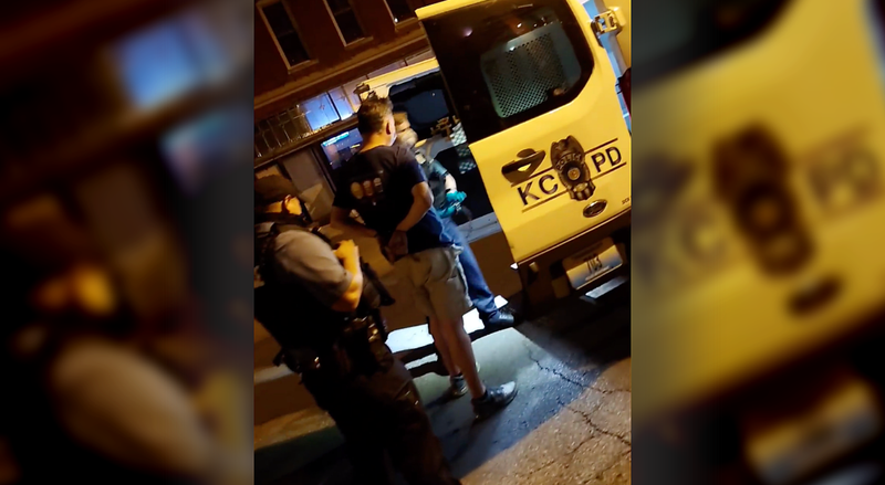 The arrest of a man by KCPD suspected of drinking and dashing, skipping out on the bill.