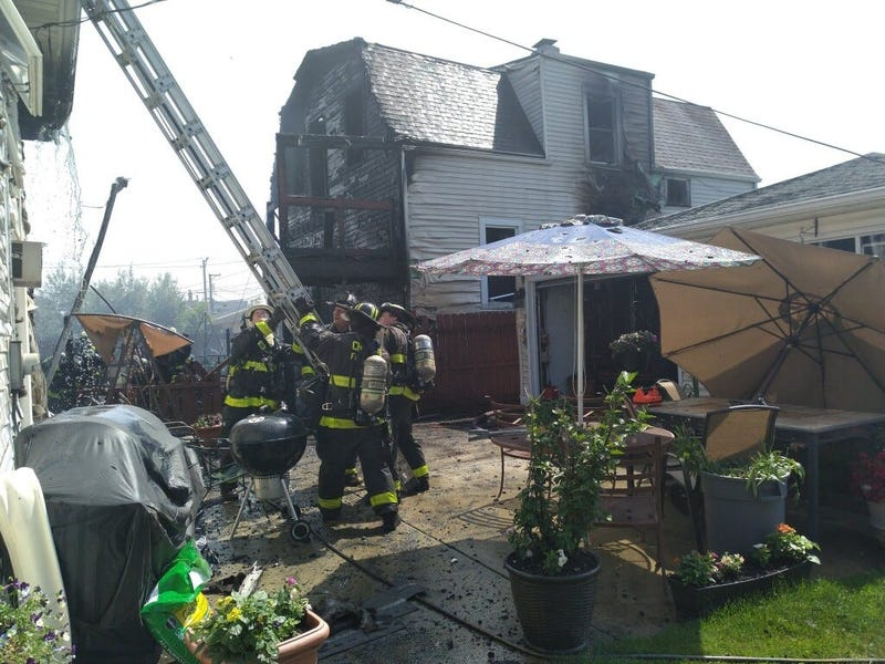 Fire crews responded July 1, 2020, to a fire in the 2400 block of North Mason Avenue.