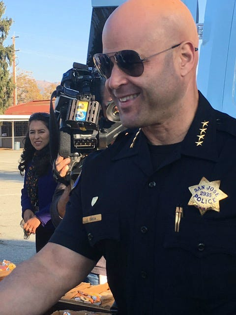 San Jose Police Chief Eddie Garcia
