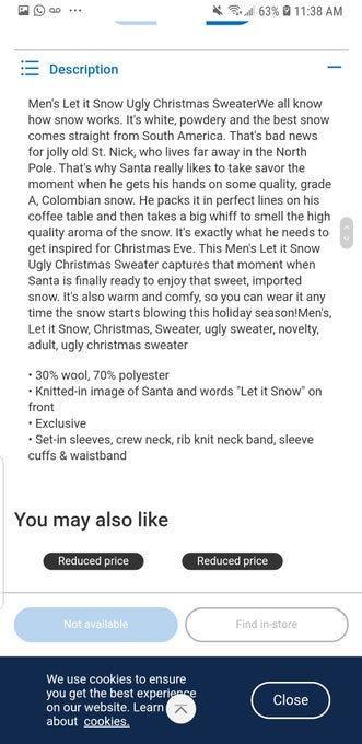 Santa cocaine sweater