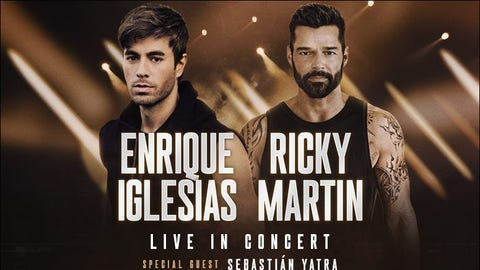 Enrique Iglesias & Ricky Martin (New Date!)