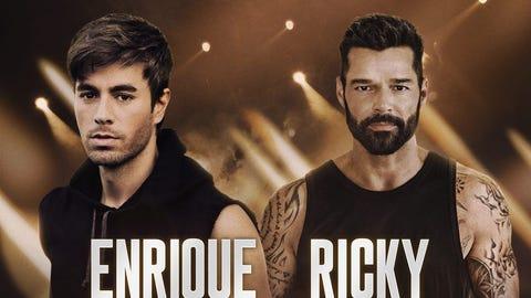 Enrique Iglesias & Ricky Martin with Sebastian Yatra