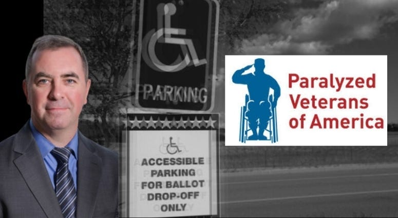 Carl Blake from Paralyzed Veterans of America talks voting issues for PVA veterans