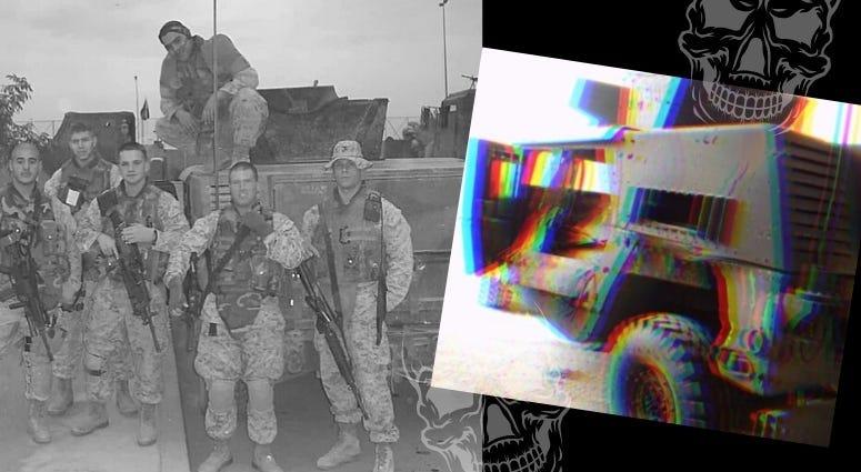 Sal Gonzalez and his fellow Marines in Ramadi, Iraq