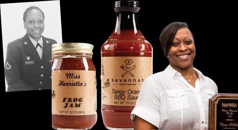 Army veteran Tracey Richburg shares how she founded Savannah Sauce Co