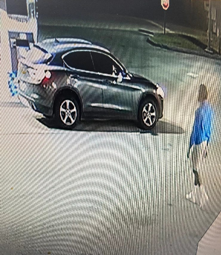 Vehicle believed to be connected to the crime
