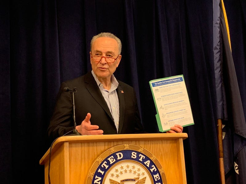 Schumer at his Midtown office