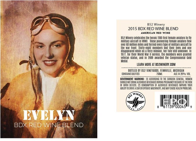 Evelyn Wine Label