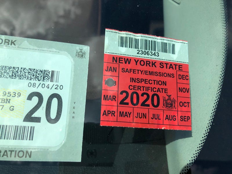 expired vehicle inspection sticker