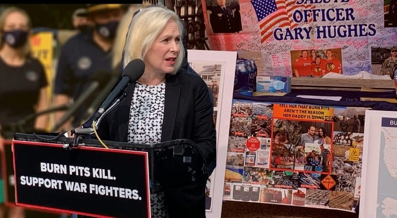 Senator Kiersten Gillibrand talks about The Presumptive Warfighters Benefits Act