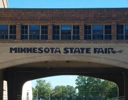 sign at state fair