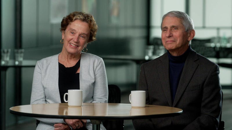 Dr. Anthony Fauci and his wife, Dr. Christine Grady