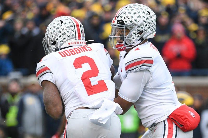 Ohio State quarterback Justin Fields and running back J.K. Dobbins