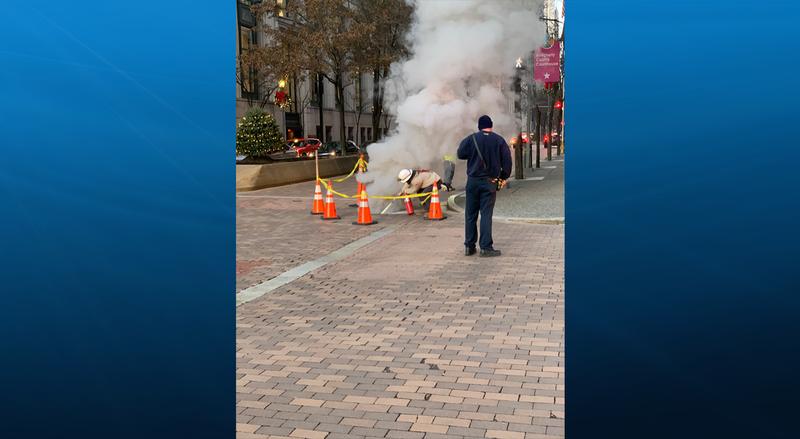 Fire underground downtown