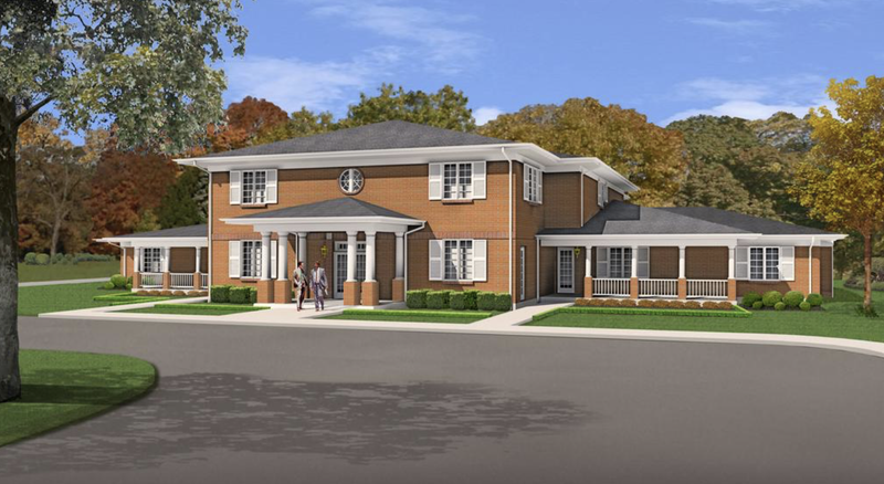 Artist rendering of the new Fisher House being built at the Kansas City VA Hospital