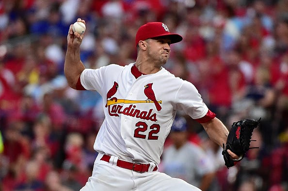 Jack Flaherty pitches for the Cardinals