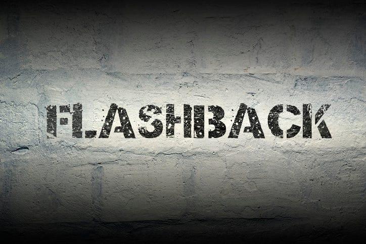 flashback written on wall