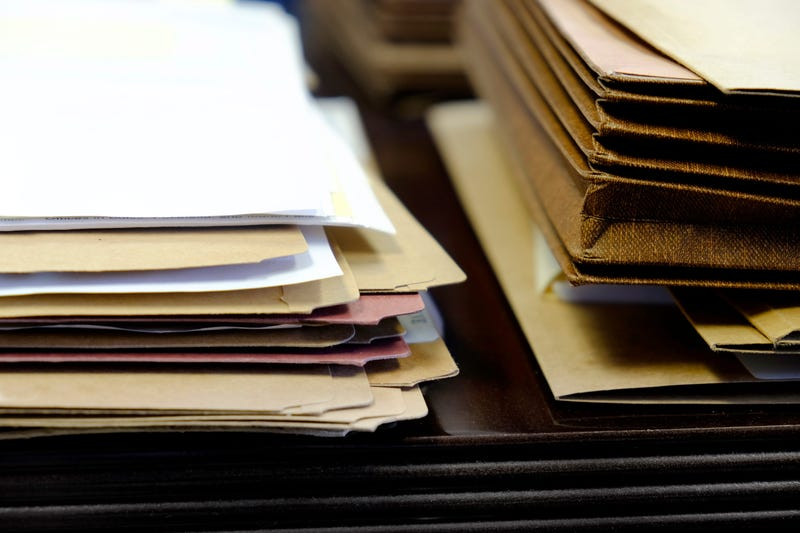 Files and folders on desk
