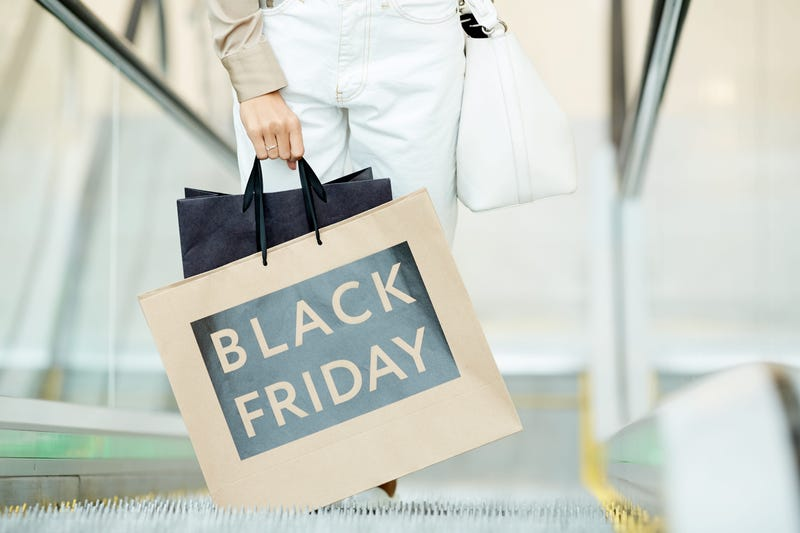 Black friday in shopping mall
