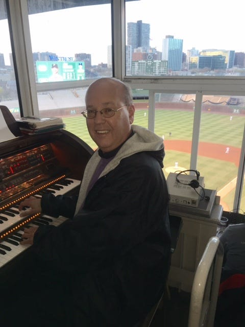 Gary Pressy is in his 29th year behind the Lowry organ at Wrigley Field.