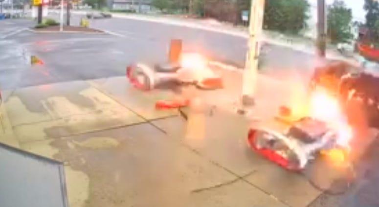 New Brunswick gas station crash