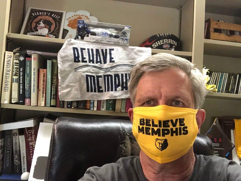 Geoff Calkins Mask Memphis 929 FM ESPN