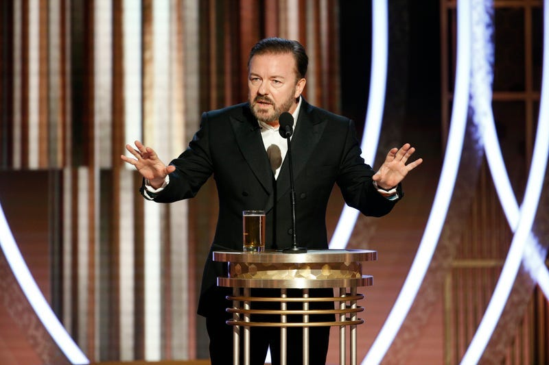 Ricky Gervais at the 2020 Golden Globe Awards.