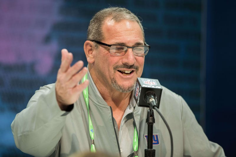 Dave Gettleman addresses the media at the NFL Combine.