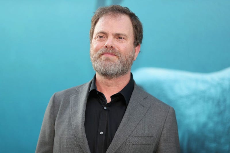 Rainn Wilson at The Meg premiere in LA