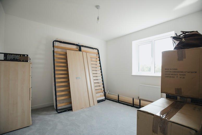 Moving, Bedroom, Packages, Bed frame, Unpacking