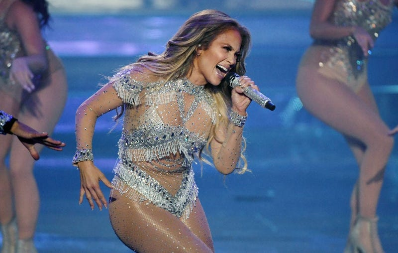 """LAS VEGAS, NV - SEPTEMBER 29: Jennifer Lopez performs during the finale of her residency, """"JENNIFER LOPEZ: ALL I HAVE"""" at Zappos Theater at Planet Hollywood Resort & Casino on September 29, 2018 in Las Vegas, Nevada. (Photo by Ethan Miller/Getty Images fo"""
