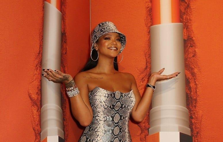 SYDNEY, AUSTRALIA - OCTOBER 03: Rihanna attends the Fenty Beauty by Rihanna Anniversary Event at Overseas Passenger Terminal on October 3, 2018 in Sydney, Australia.