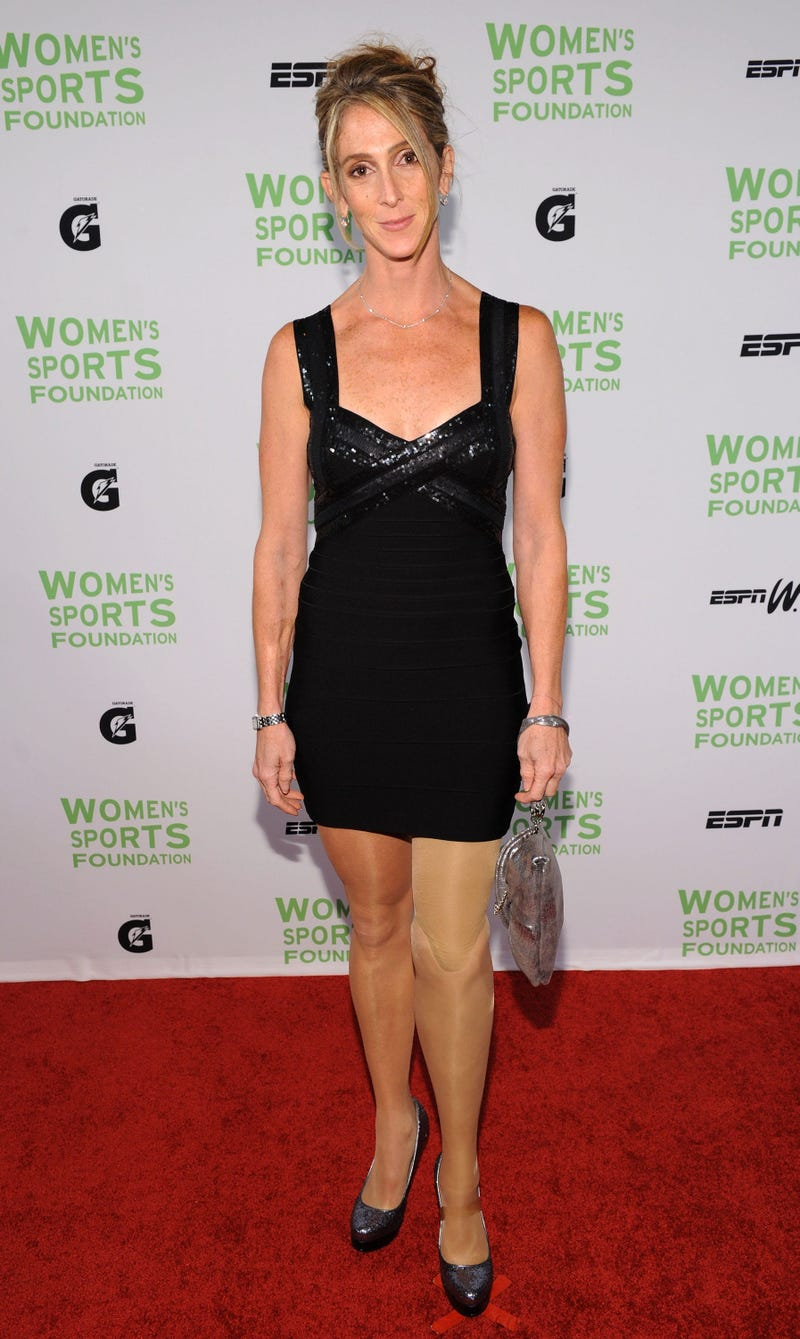 Runner Amy Palmiero-Winters attends the 31st Annual Salute to Women in Sports gala at The Waldorf-Astoria on October 12, 2010 in New York City.