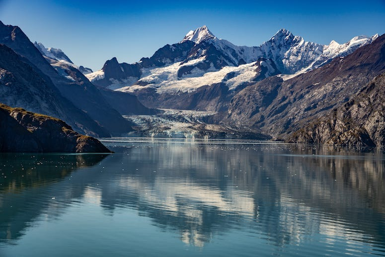 Alaska, Lake, Glacier Bay, Winter, Snow