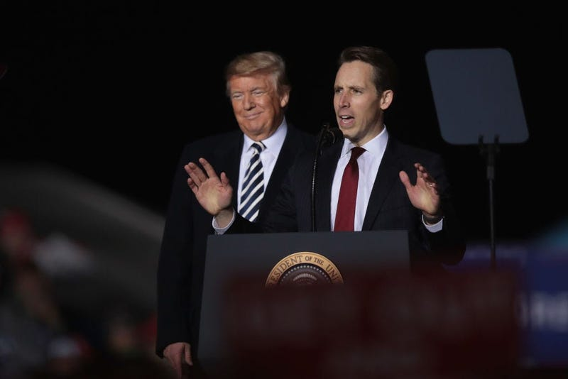 Josh Hawley and President Trump