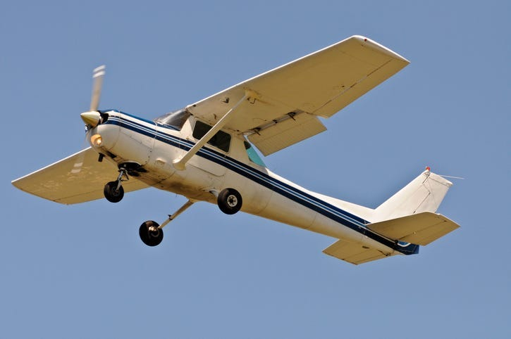 Single engine plane in flight - Getty Images