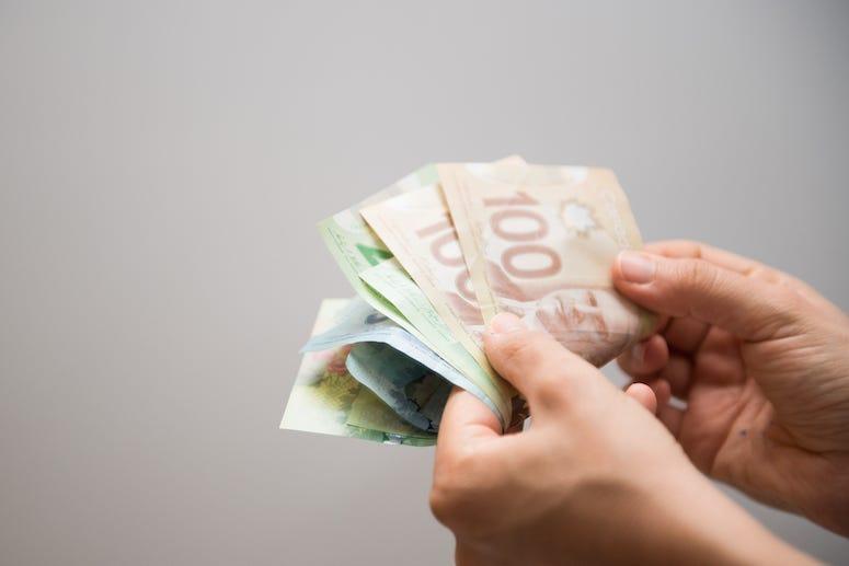Canada, Canadian, Money, Cash, Bills, hands