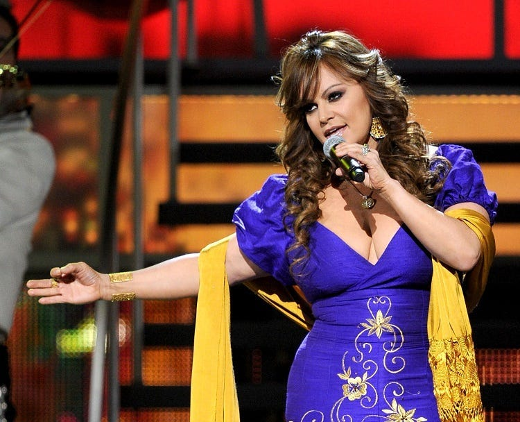Singer Jenni Rivera performs onstage during the 11th annual Latin GRAMMY Awards at the Mandalay Bay Events Center on November 11, 2010 in Las Vegas, Nevada.