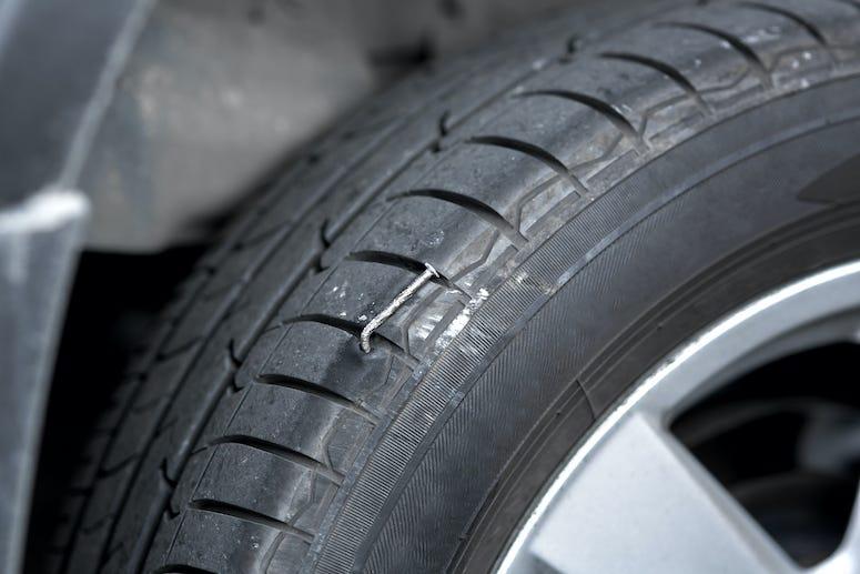 Nail, Tire, Car