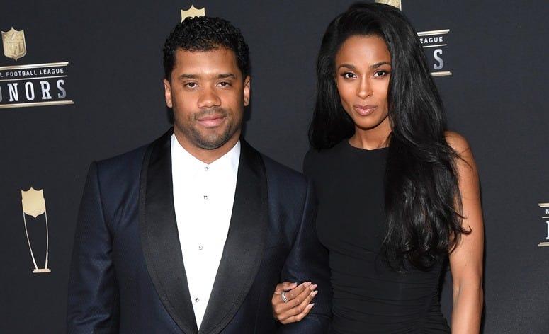 8th Annual NFL Honors - Arrivals ATLANTA, GEORGIA - FEBRUARY 02: Russell Wilson and Ciara Princess Harris attend the 8th Annual NFL Honors at The Fox Theatre on February 02, 2019 in Atlanta, Georgia.