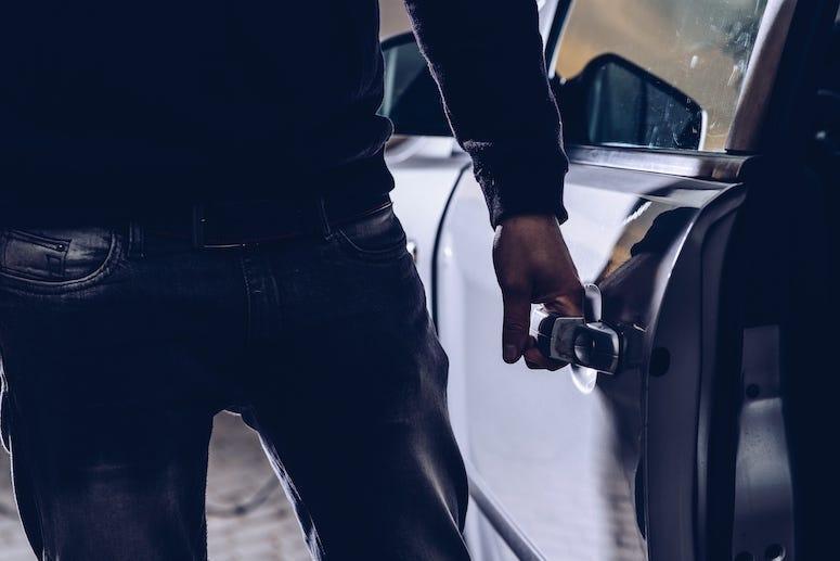 Car, Thief, Open Door